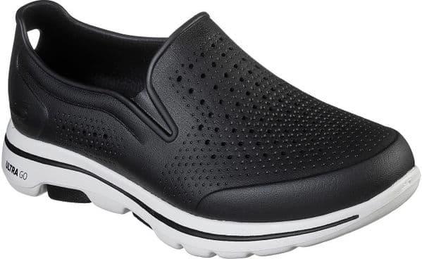 Skechers Go Walk 5 Easy Going Slip On Mens Summer Black / White